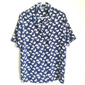 JOUSSE / Half Moon Print Button Up Shirt